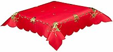 Spruce Christmas Tablecloth in Red Or White with