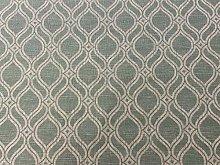 Spruce Deco Trellis Pale Green Mint Linen