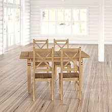 Spruce Knob Dining Set with 4 Chairs Union Rustic