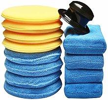 SPTA 13Pcs Car Polishing Sponges Cleaning Wax