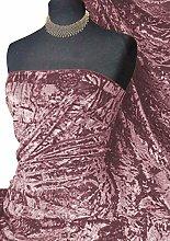 Spun Ice Crush Effect Velvet 2 Way Spandex Fabric