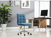 Spurlock Desk Chair Blue Elephant Upholstery