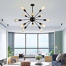 Sputnik Chandelier Black Modern Ceiling Light