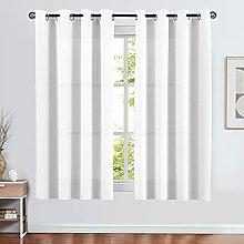 SPXUBZ Nursery Window Curtain, White Blackout