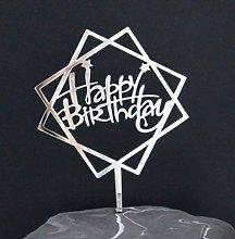 SQJU 4PCS Birthday Cake Topper Acrylic Letter Cake