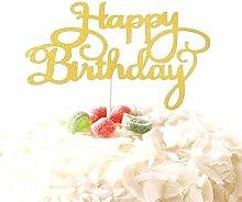 SQJU Birthday Cake Topper Acrylic Letter Cake
