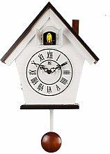 SqSYqz Cuckoo Clock - White Birdhouse,Minimalist