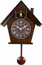 SqSYqz Cuckoo Wall Clock Striking Large Birdhouse