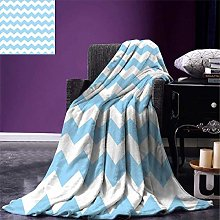 SQT Light Blue Throw Blanket Old Fashioned Classic