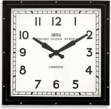 Square 'Smiths London' Black Wall Clock -