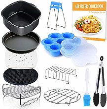 Square Air Fryer Accessories 11 pcs with Recipe