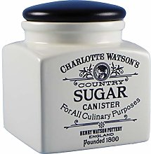 Square Airtight Sugar Canister in Cream by