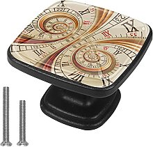 Square Cabinet Door Knobs Old Clock Watch Clock
