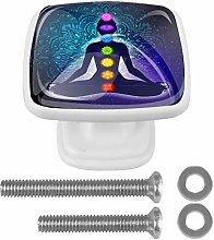 Square Cabinet Knob Yoga for Human Body Handmade