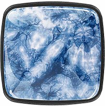 Square Cabinet Knobs Blue Indigo Dye Kitchen Pulls