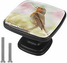 Square Cabinet Knobs Pulls Animal Bird Crystal