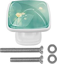Square Cabinet Knobs Pulls Fresh Flowers Crystal