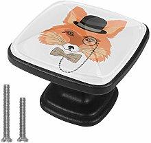Square Cabinet Knobs Pulls Gentleman Fox Crystal