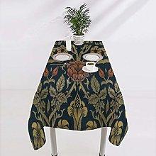 Square Cotton Tablecloth Vintage William Morris
