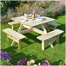 Square Eight Seater Picnic Bench