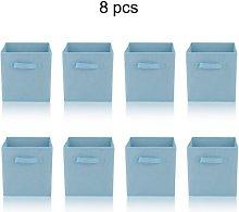 Square Foldable Storage Box Collapsible Box Canvas