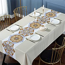 Square Geometric Pattern Oil-Proof Tablecloth