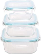 Square Glass 3 Container Food Storage Set Symple