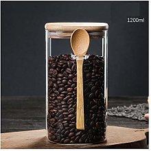 Square Glass Sealed jar, Food Storage jar, Spice