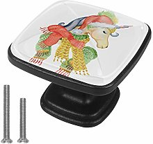 Square Kitchen Cabinet Knobs - 4 pcs Drawer