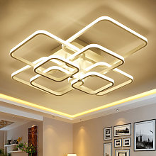 Square LED Dimmable Chandelier Ceiling Light With