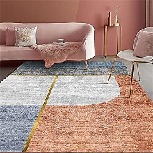Square Rug Cheap Rugs Orange and Gray Short Pile