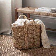 Square Seagrass Storage Basket - Small, Natural,