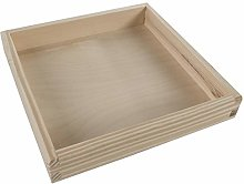Square Shallow Display Open Box Container |