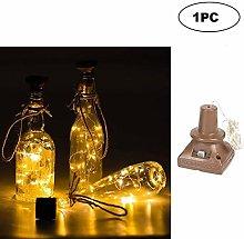 Square Solar Energy Light 1M Wine Bottle Decor