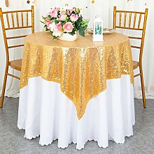 Square Tablecloth 48x48-Inch Shimmer Gold
