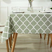 Square Tablecloth Cotton Linen-Table Cover Wrinkle