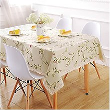 Square Tablecloth, Simple Style 50% Linen Fabric