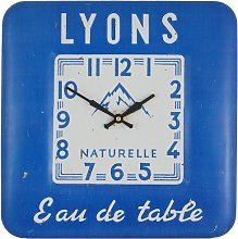 Square Tin Wall Clock, Lyon Design - 31cm