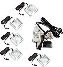 SQUARE XL Very Bright Cold White LED Light 2W 12V