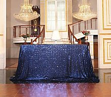 SquarePie Sequin Tablecloth Rectangle 50 x 72 Inch