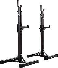 Squat rack for barbell - black