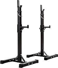 Squat rack for barbell - black