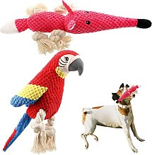 Squeaky Dog Toys 2 Pieces, Plush Dog Toy Durable