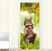 Squirrel Door Sticker East Urban Home