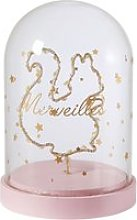 Squirrel Light-Up Accessory under Glass Bell Jar