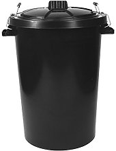 Srendi® Large 85L Litre Black Metal Handles