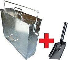 Srendi® Silver Ash Carrier Galvanised Metal Hot