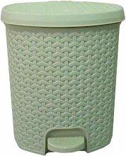 Srendi® Small/Large Plastic Rattan Pedal Bin