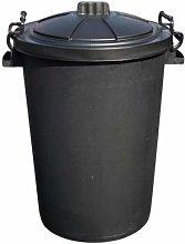 Srendi® Small/Medium/Large Black Plastic Bin