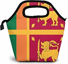 Sri Lankan Flag Lunch Bag Insulated Lunch Box